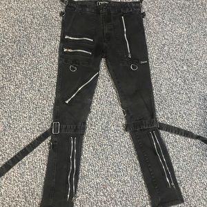 Hot topic bondage pants.